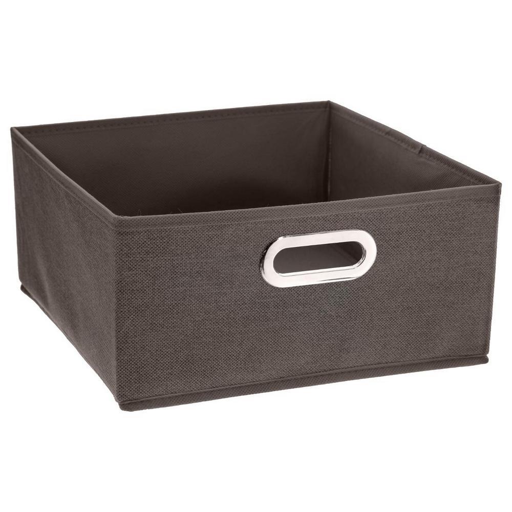 Boite de rangement pour meuble étagères Mix'n Module 31x15 cm - Marron chiné - Maison Futée