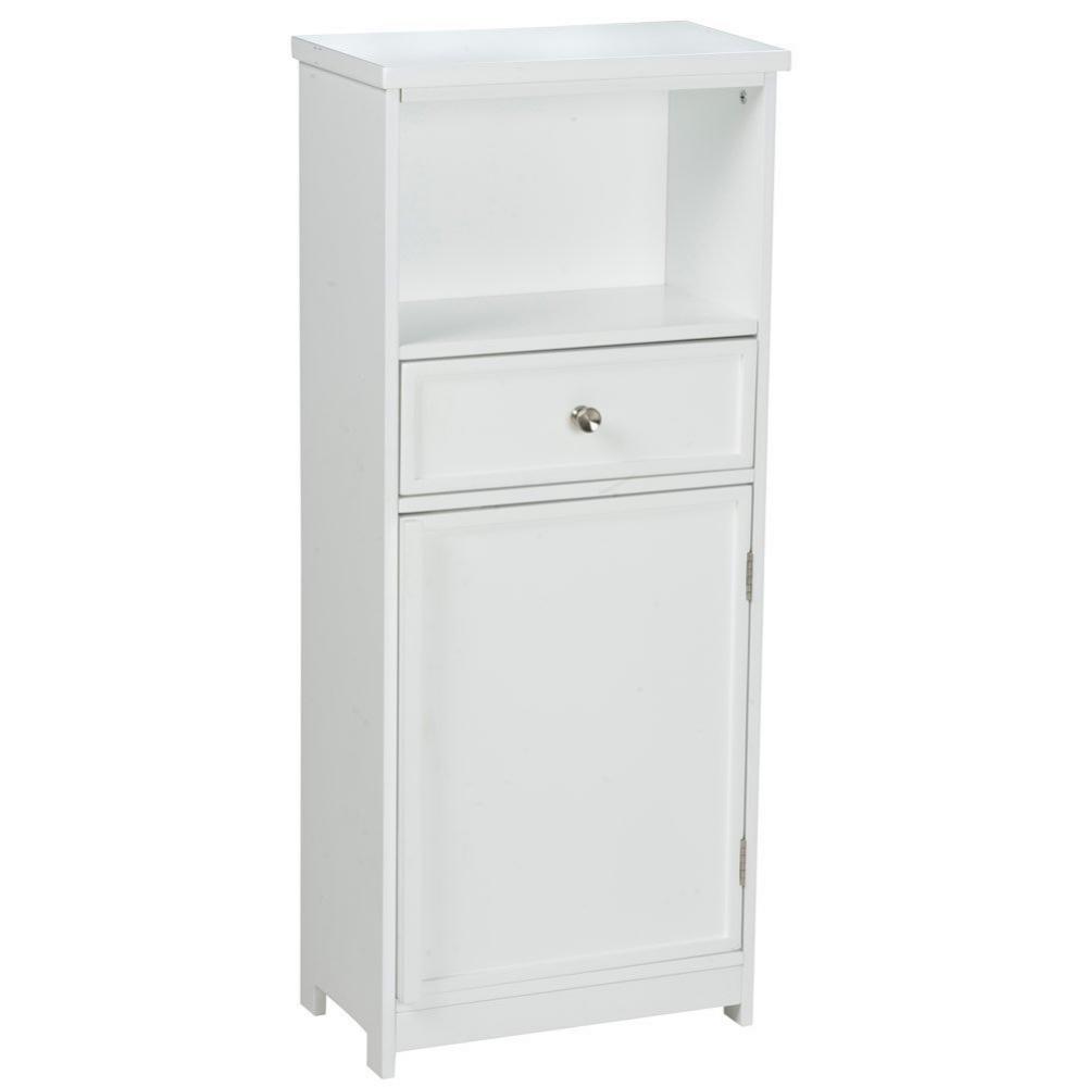 Meuble De Rangement De Salle De Bain meuble de rangement salle de bain avec tiroir blanc - maison
