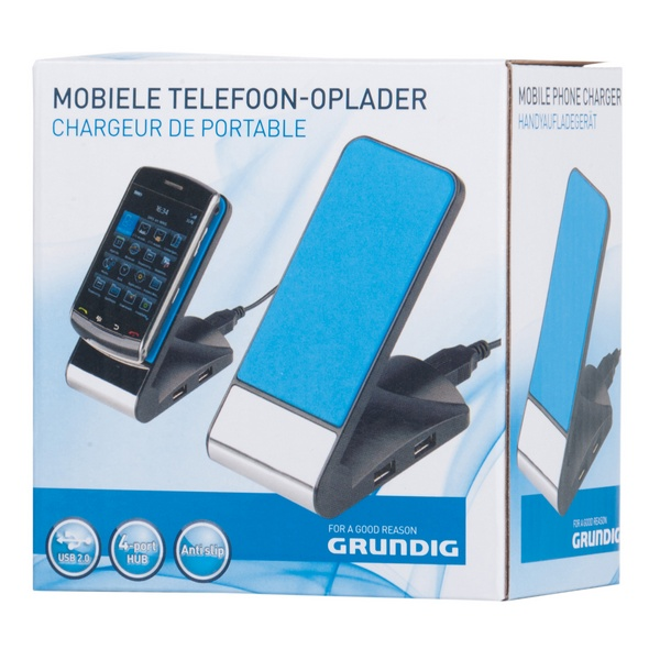 Support Grundig de chargement antidérapant pour smartphone