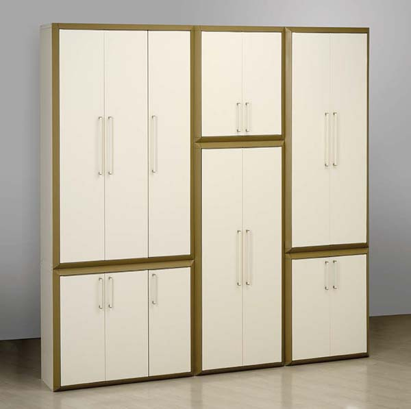 armoire haute modulable en r sine 3 portes prestige maison fut e. Black Bedroom Furniture Sets. Home Design Ideas