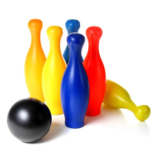 Jeu de mini bowling pour enfant 6 quilles et une boule for Jeu pour gagner une maison