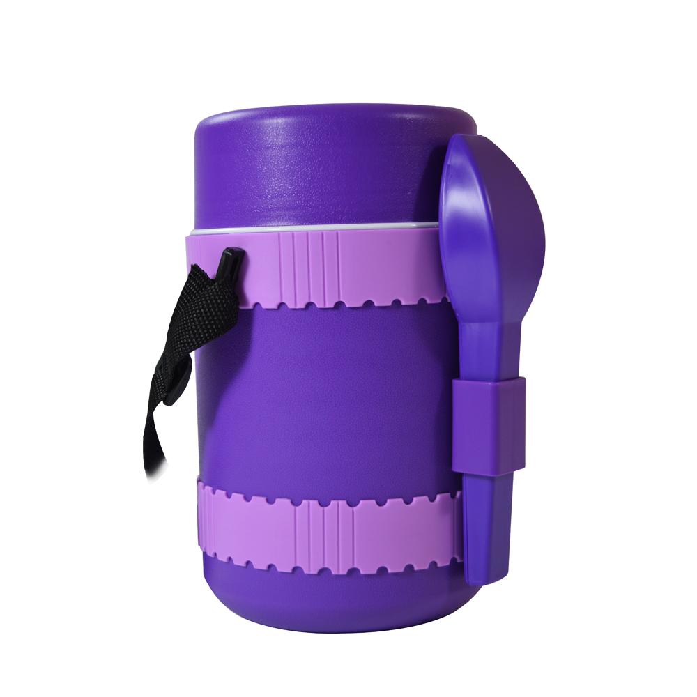 lunch box thermique grande capacit triple compartiment 1 8 l violet maison fut e. Black Bedroom Furniture Sets. Home Design Ideas