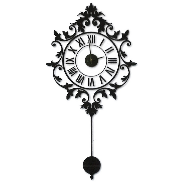 Horloge sticker murale baroque maison fut e for Reloj de pared vintage 60cm