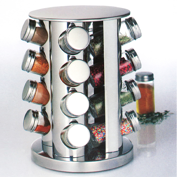 Pr sentoir tourniquet et ses 16 pots pices maison fut e for Porte epices design
