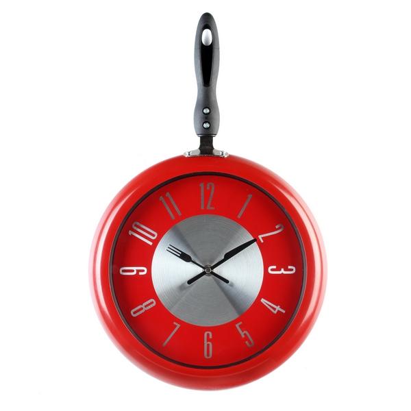 Horloge murale cuisine rouge belle cuisine nous a fait for Horloge murale cuisine rouge