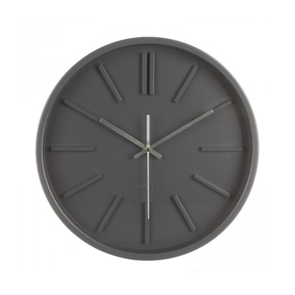 horloge murale design 35 cm gris maison fut e. Black Bedroom Furniture Sets. Home Design Ideas