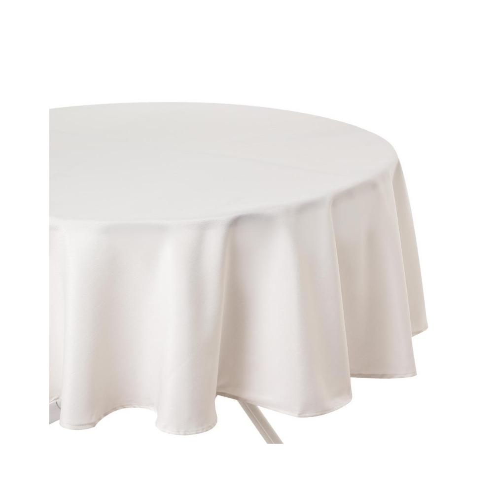 Nappe anti taches ivoire ronde 180 cm maison fut e - Table ronde 180 cm combien de personnes ...