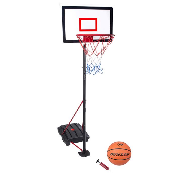 panier de basket dunlop hauteur r glable avec ballon et. Black Bedroom Furniture Sets. Home Design Ideas