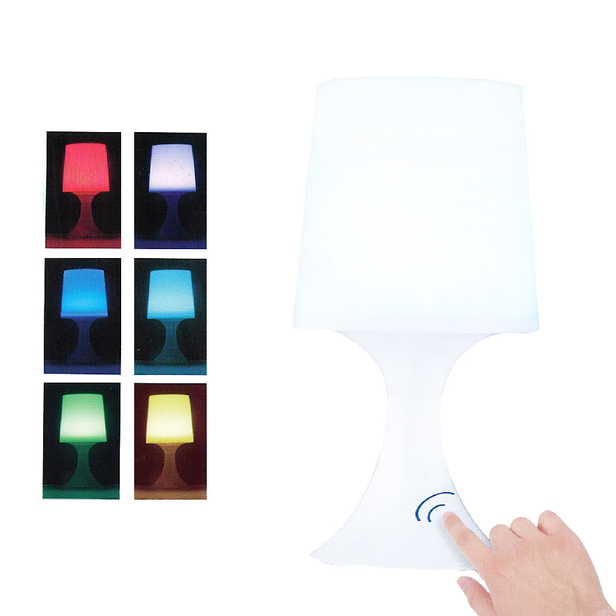 lampe d corative touch 4 led multicolores maison fut e. Black Bedroom Furniture Sets. Home Design Ideas