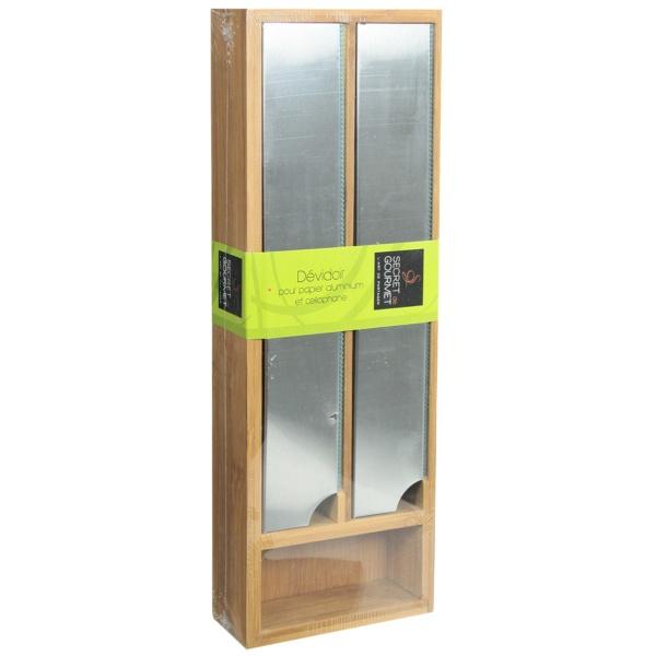 D vidoir de cuisine en bambou 2 en 1 maison fut e - Devidoir cuisine 4 rouleaux ...