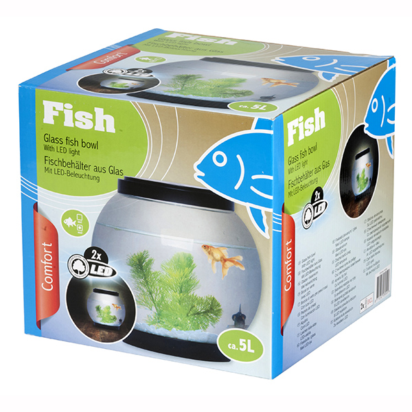 Aquarium bocal led maison fut e for Bocal de poisson