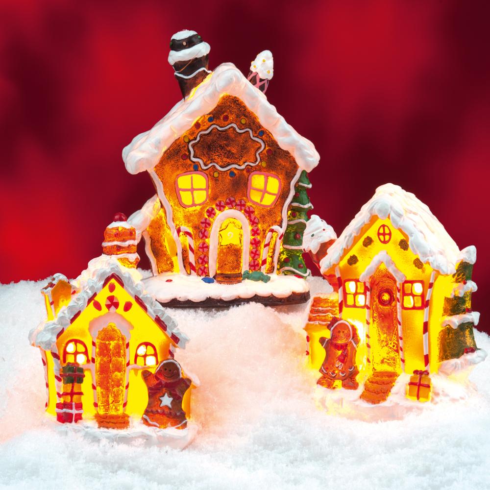 d corations lumineuses de no l 3 maisons en bonbon translucide maison fut e. Black Bedroom Furniture Sets. Home Design Ideas