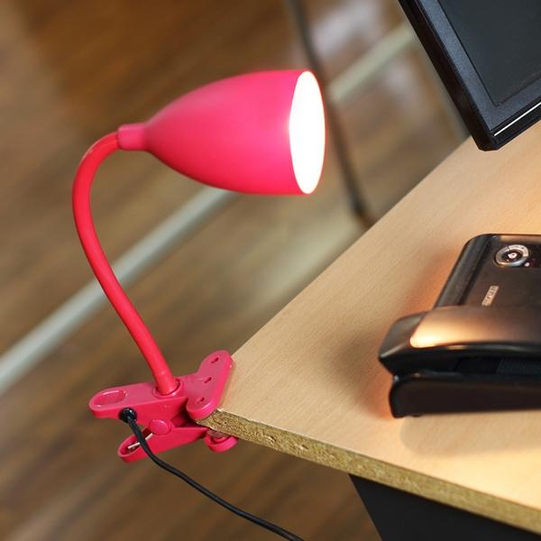 lampe flexible pince rouge maison fut e. Black Bedroom Furniture Sets. Home Design Ideas
