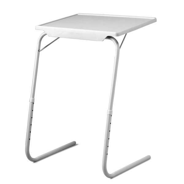 Table d 39 appoint pliante r glable en hauteur avec tablette for Meuble avec table pliante