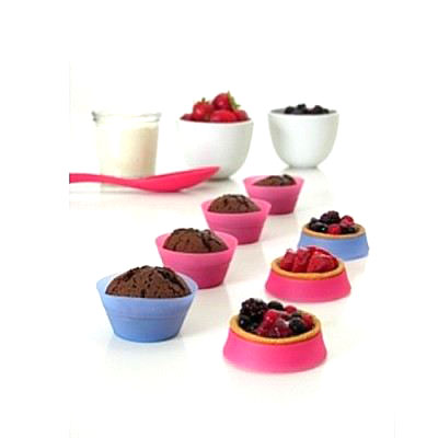 Moules silicone retractables muffin cupcake tarte