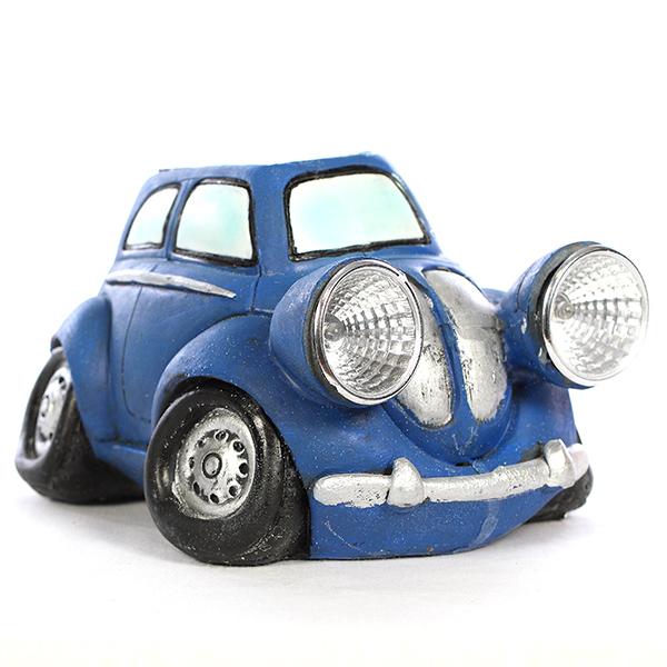 Lampe solaire de jardin led voiture bleue maison fut e - Lampe de jardin led ...