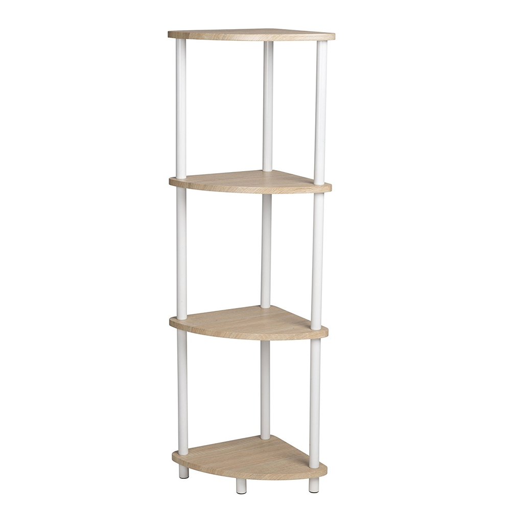 Tag re d 39 angle 4 niveaux maison fut e for Etagere d angle salon