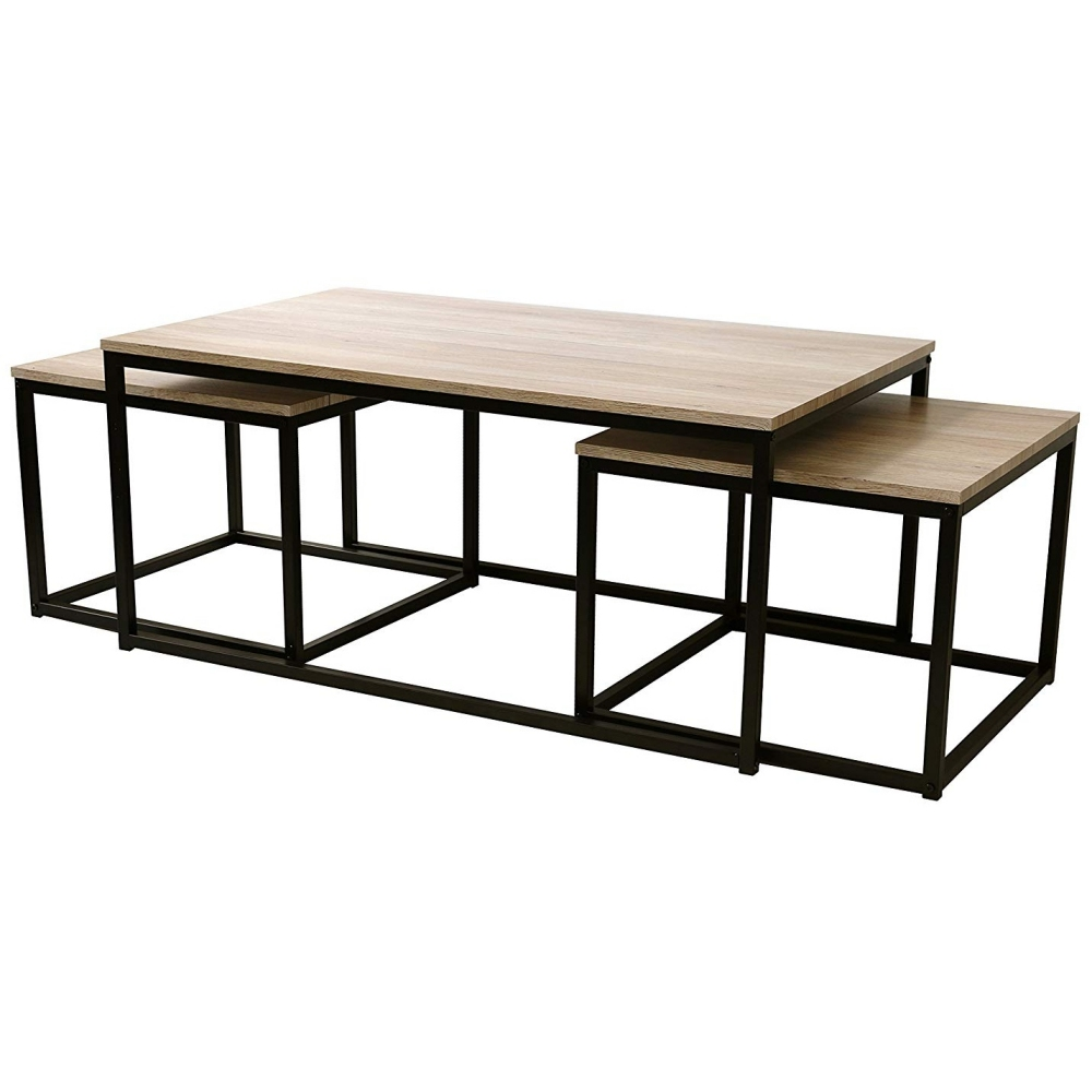 Ensemble table basse & 2 consoles - Collection Loft