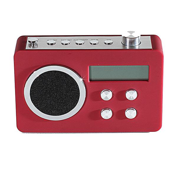 radio fm num rique retro design rouge maison fut e. Black Bedroom Furniture Sets. Home Design Ideas