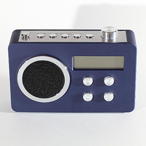 Radio fm num rique retro design bleu maison fut e for Radio numerique portable