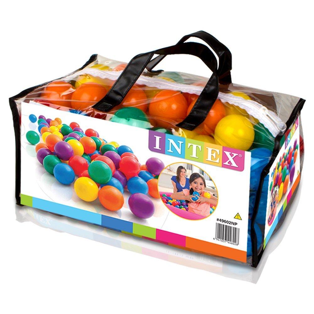 lot de 100 balles multicolores pour enfants intex maison fut e. Black Bedroom Furniture Sets. Home Design Ideas
