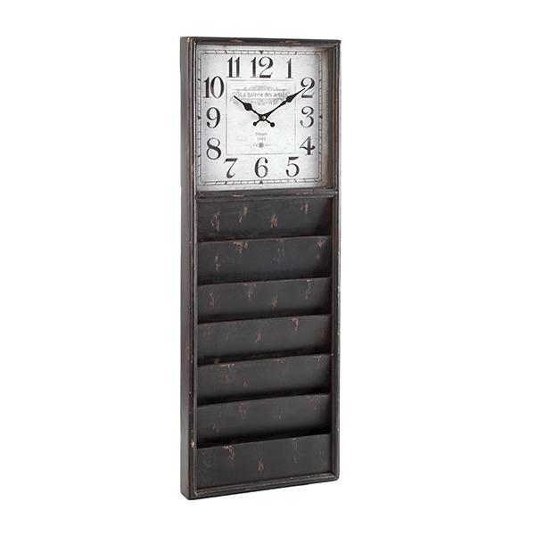 horloge murale porte revues maison fut e. Black Bedroom Furniture Sets. Home Design Ideas