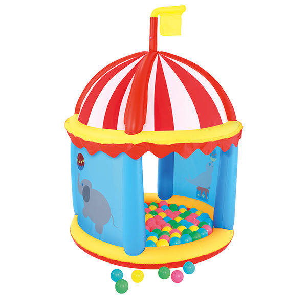 Piscine boules et son chapiteau gonflables maison fut e for Boules pour piscine