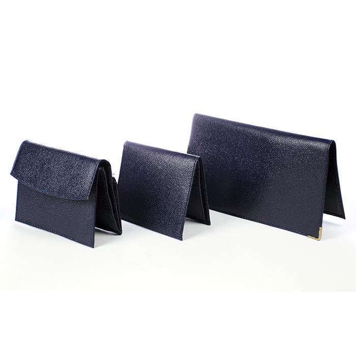 porte ch quier porte cartes et porte monnaie en cro te de cuir couleur bleu nuit maison fut e. Black Bedroom Furniture Sets. Home Design Ideas