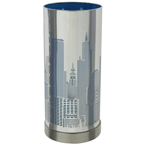 lampe touch new york avec variateur tactile de lumi re mod le bleu maison fut e. Black Bedroom Furniture Sets. Home Design Ideas