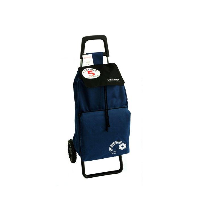 chariot de courses 2 roues isotherme 42 litres bleu. Black Bedroom Furniture Sets. Home Design Ideas