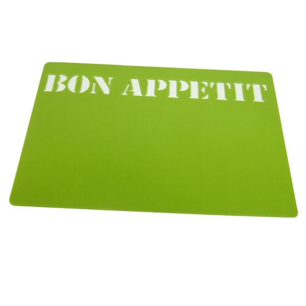 4 set de table bon appetit vert maison fut e. Black Bedroom Furniture Sets. Home Design Ideas