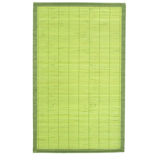 tapis en bambou lattes fines 45 x 75 cm vert maison. Black Bedroom Furniture Sets. Home Design Ideas
