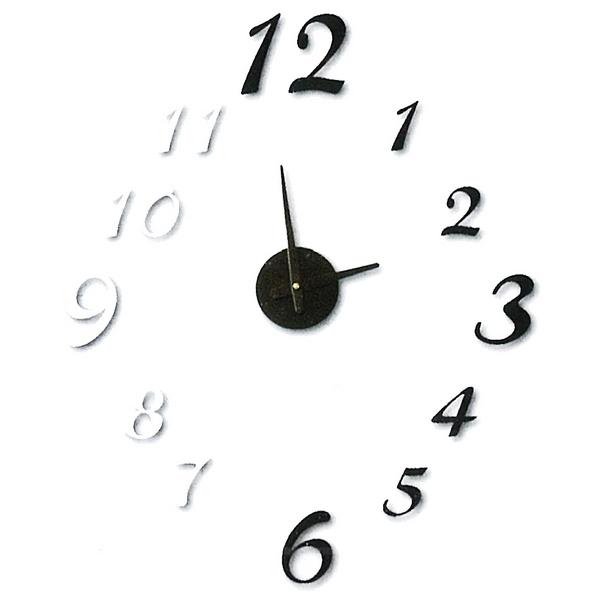 horloge sticker murale chiffres 3d noir et blanc With dessiner maison en 3d 16 horloges deco maison futee