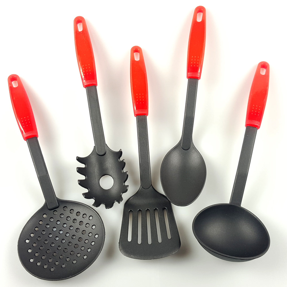 Lot de 5 ustensiles spatules de cuisine en nylon anti for Ustensile pratique cuisine