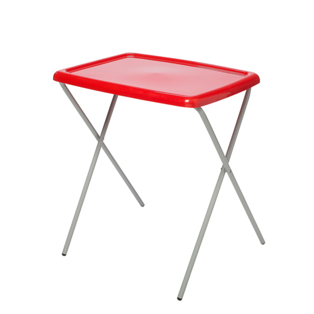 Table d'appoint pliante rouge