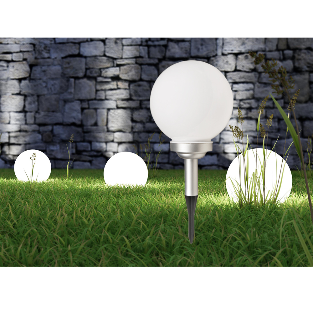 lampe solaire globe de jardin 20 cm maison fut e. Black Bedroom Furniture Sets. Home Design Ideas