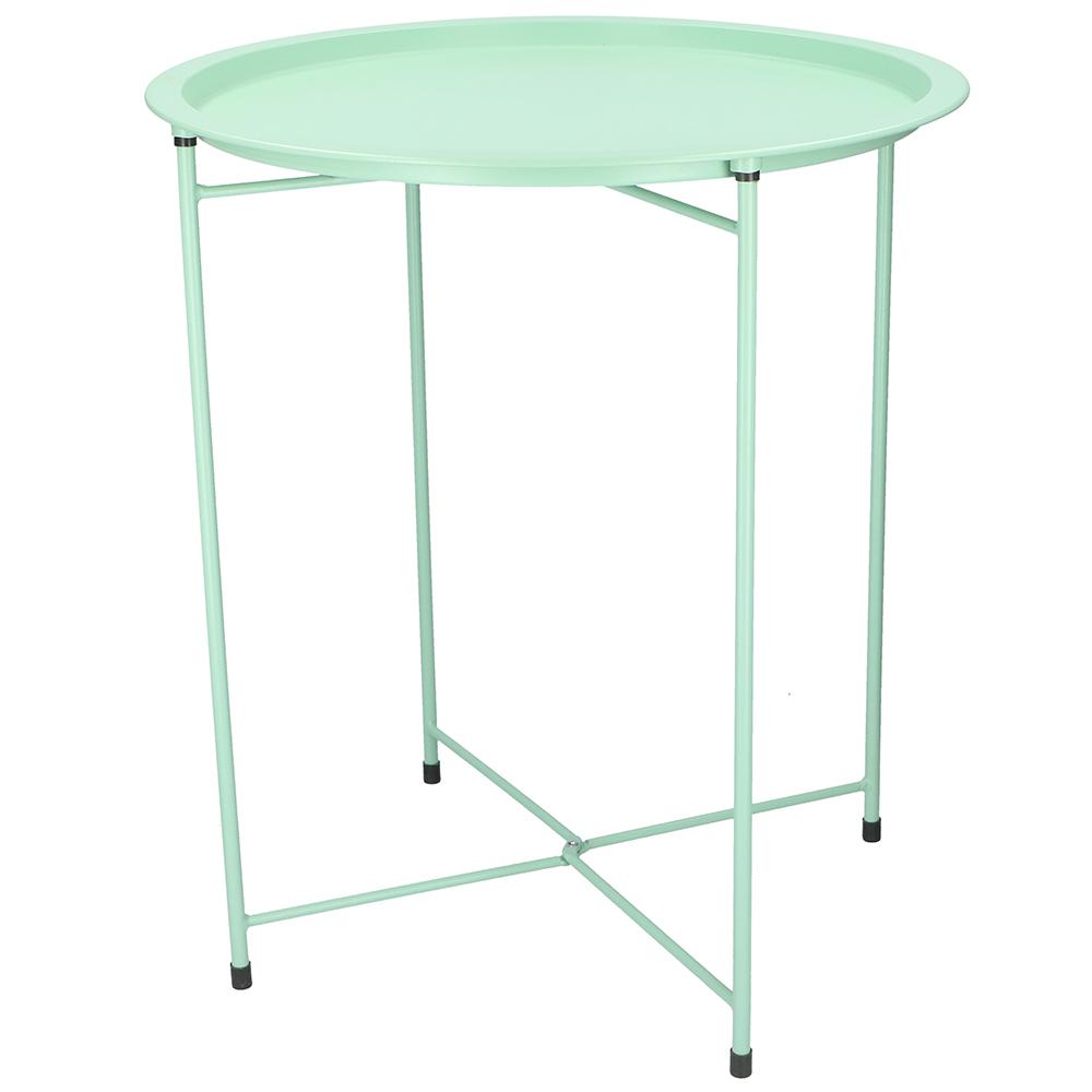 table d 39 appoint pliable en m tal desserte gu ridon vert maison fut e. Black Bedroom Furniture Sets. Home Design Ideas