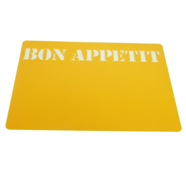 4 set de table bon appetit jaune maison fut e. Black Bedroom Furniture Sets. Home Design Ideas