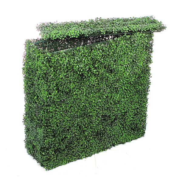 muret de buis artificiel vert jaune maison fut e. Black Bedroom Furniture Sets. Home Design Ideas