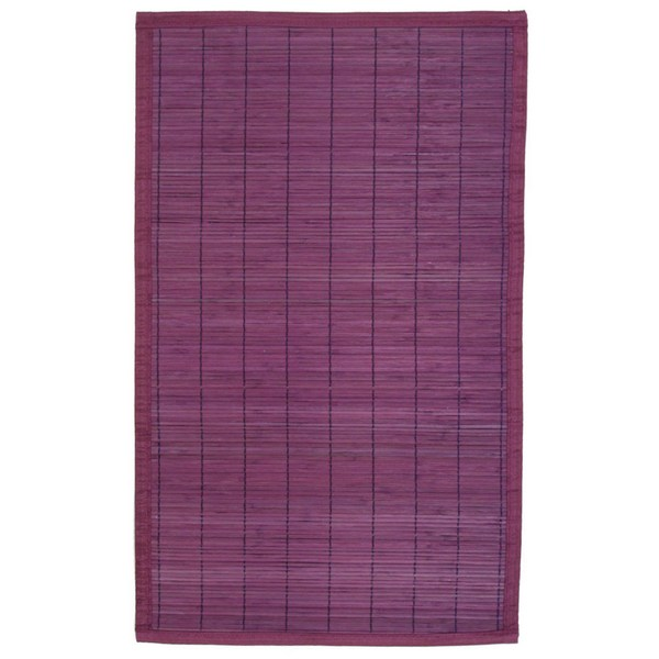 tapis en bambou lattes fines 45 x 75 cm violet. Black Bedroom Furniture Sets. Home Design Ideas
