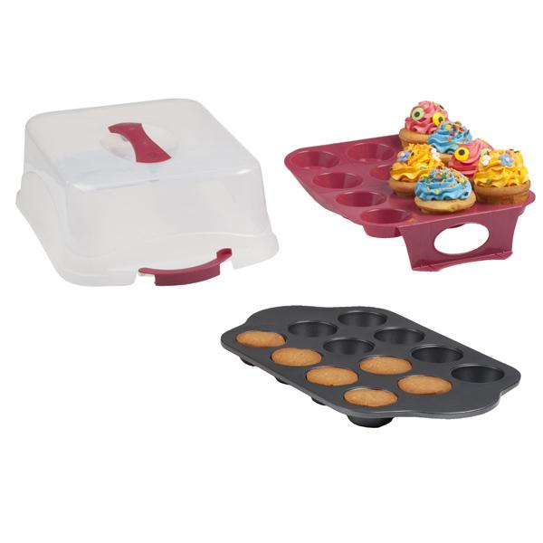 moule cupcakes avec pr sentoir et boite de transport. Black Bedroom Furniture Sets. Home Design Ideas