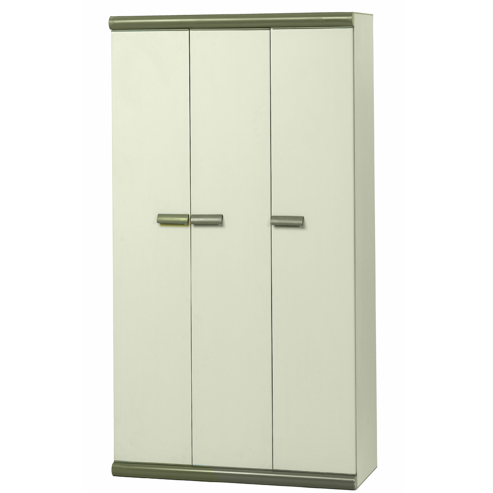 armoire haute en r sine 3 portes avec compartiment range balai beige ebay. Black Bedroom Furniture Sets. Home Design Ideas