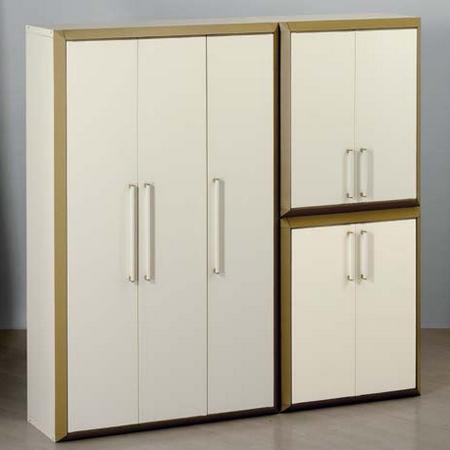 Armoire basse modulable en r sine 2 portes prestige for Armoire modulable
