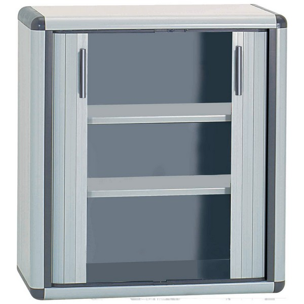 Latest armoire basse en plastique porte coulissante with for Meuble porte a rideau