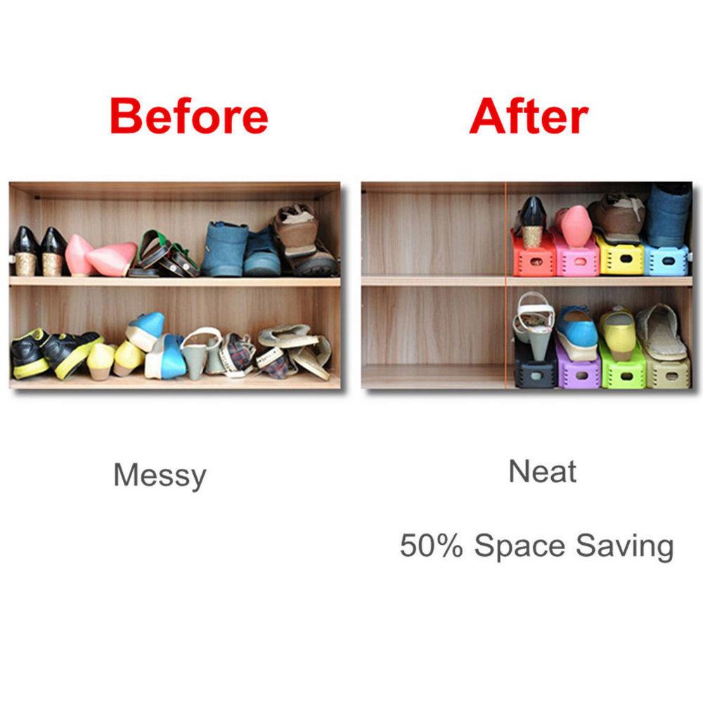 lot de 12 ranges chaussures magique organisateur de. Black Bedroom Furniture Sets. Home Design Ideas
