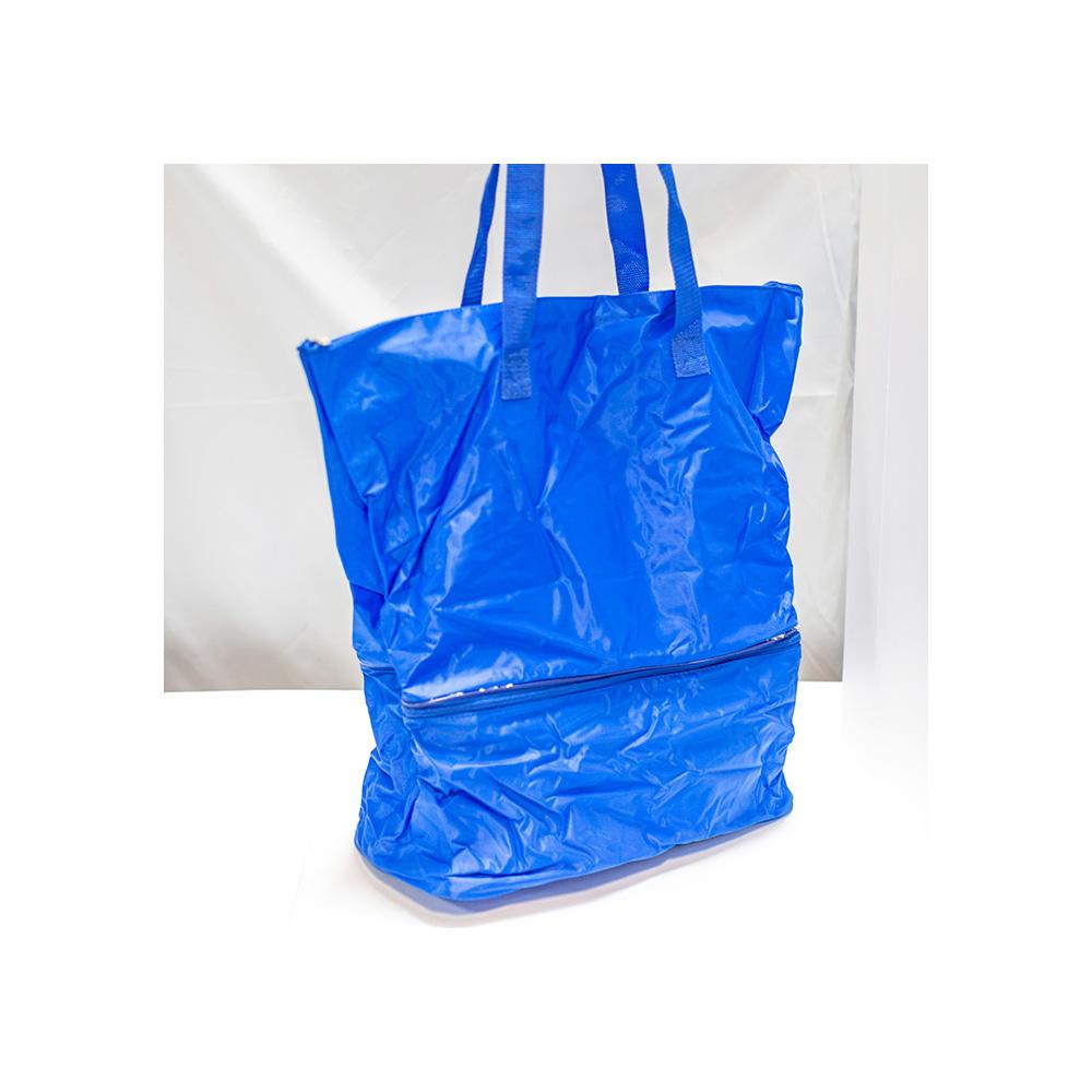 sac de course avec compatiment isotherme bleu maison fut e. Black Bedroom Furniture Sets. Home Design Ideas