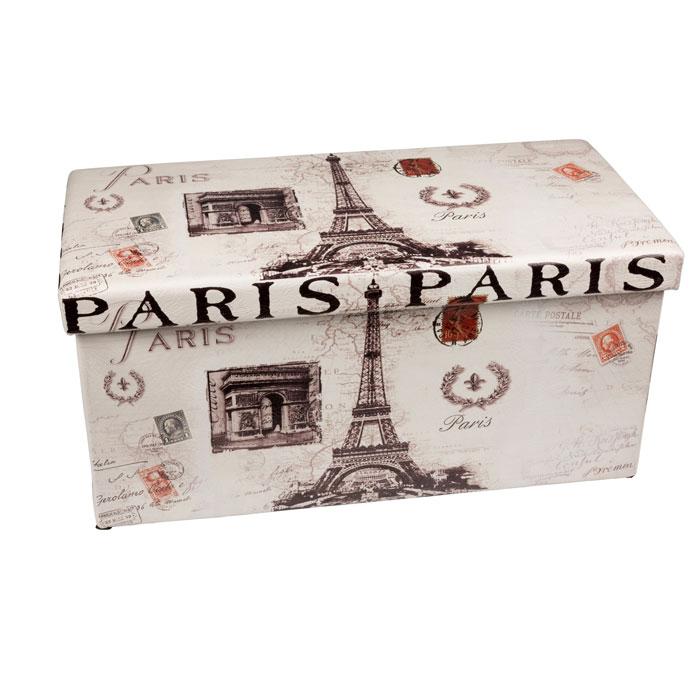 Pouf Pliable Avec Coffre De Rangement Modele Paris Maison Futee