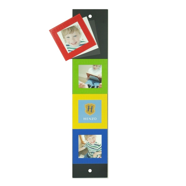 Porte photo mural aimant 4 photos mod le argent for Porte photo mural