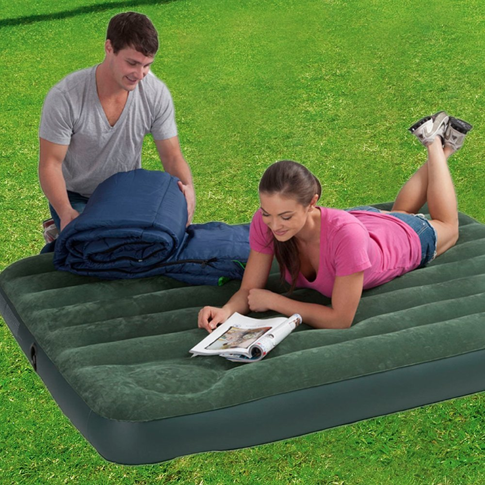 matelas gonflable airlock 2 places avec pompe pied. Black Bedroom Furniture Sets. Home Design Ideas