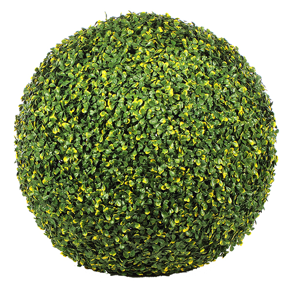 boule de buis artificielle 45 cm vert et jaune ebay. Black Bedroom Furniture Sets. Home Design Ideas